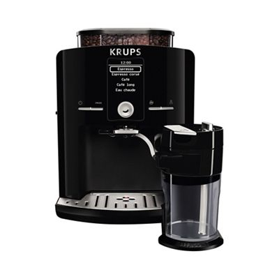 Krups Coffee Maker Debenhams : Krups Black Espressia automatic bean to cup coffee machine EA8298 Debenhams