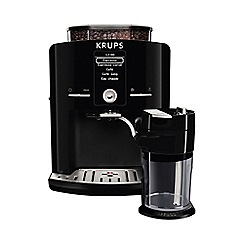 Krups - Black 'Espressia' automatic bean to cup coffee machine EA8298
