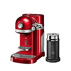 KitchenAid - Nespresso empire red artisan coffee machine and aeroccino 3 5kes0504ber