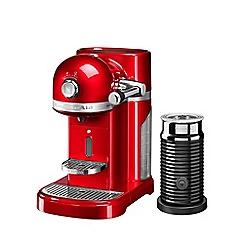 KitchenAid - Candy apple Nespresso 'Artisan' coffee machine and aeroccino 3 5KES0504BCA
