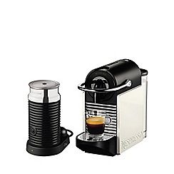 Magimix - Nespresso Pixie Clips 11323 White and Coral coffee machine with Aeroccino by Magimix
