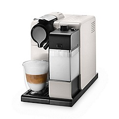DeLonghi - Glam white Nespresso 'Lattissima Touch' coffee machine EN550.W
