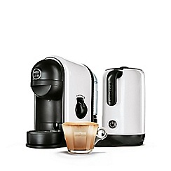 Lavazza - 'Minu Caffe Latte' white coffee machine 10080951