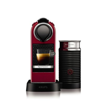 Krups Coffee Maker Debenhams : Krups Cherry red Nespresso Citiz & Milk Coffee Machine XN760540 Debenhams