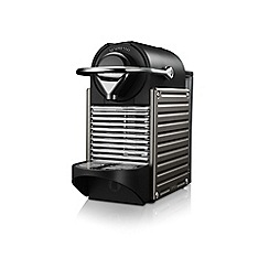 Krups - Metallic black Nespresso 'Pixie' coffee machine XN300540