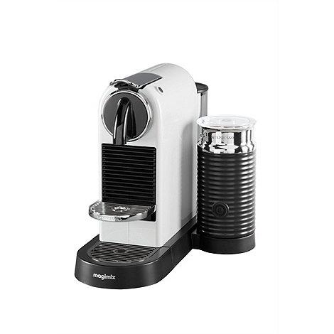 nespresso white 39 citiz milk 39 coffee machine by magimix 11319 debenhams. Black Bedroom Furniture Sets. Home Design Ideas