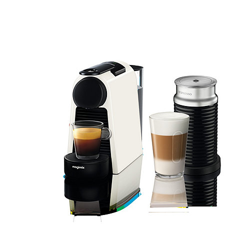 nespresso white 39 essenza mini 39 bundle coffee machine by magimix 11372 debenhams. Black Bedroom Furniture Sets. Home Design Ideas