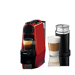 Nespresso - Red 'Essenza Mini' bundle coffee machine by Magimix 11373