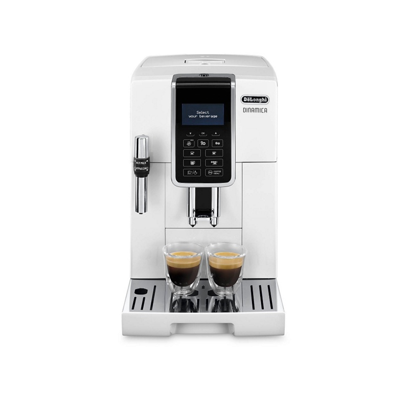 DeLonghi White dinamica bean to cup coffee machine ECAM350.35W - Misc - Bean to cup