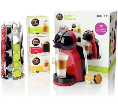 Krups Coffee Maker Debenhams : Nescafe Dolce Gusto Mini Me Red & Black Coffee Machine with Starter Kit by Krups Debenhams