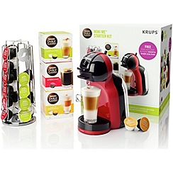 Nescafé - Dolce Gusto Mini Me® Red & Black Coffee Machine with Starter Kit by KRUPS