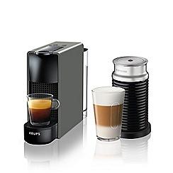Nespresso - Essenza mini grey and aeroccino3 by krups coffee machine XN111B40