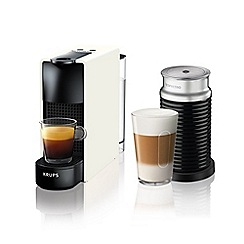 Nespresso - Essenza mini white and aeroccino3  by krups coffee machine XN111140