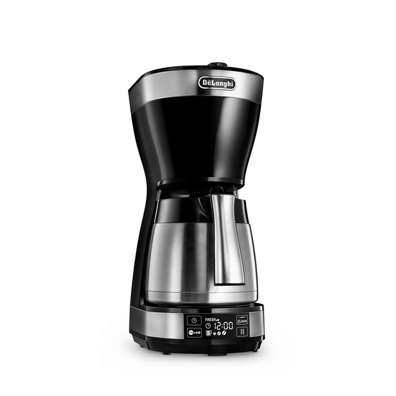 DeLonghi Silver Thermal Digital Drip Filter Coffee Machine ICM16731 - Misc - Filter coffee machines - black