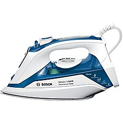 Bosch - Blue/white steam iron with i-temp 2800w TDA7060GB