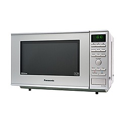 Panasonic - NN-CF760MBPQ flatbed combination microwave oven, silver finish