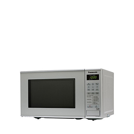 Panasonic - Silver microwave with grill NN-K181MMBPQ
