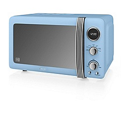 Swan - Blue 'Retro' digital microwave SM22030BLN