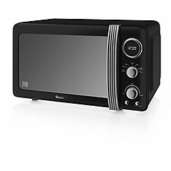 Swan - Black SM22030BN retro digital microwave