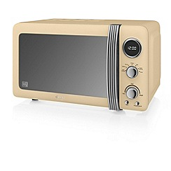 Swan - Cream SM22030CM retro digital 20L microwave