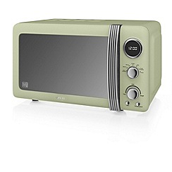 Swan - Green 'Retro' digital microwave SM22030GN
