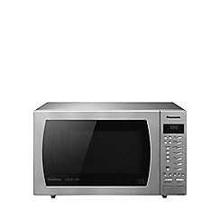Panasonic - Stainless steel free-standing microwave with oven and grill NN-CT585S
