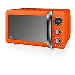 Swan - Orange SM22030ON retro digital 20L microwave