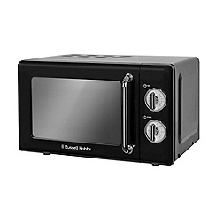 Russell Hobbs - Black retro 17l manual microwave RHRETMD706B