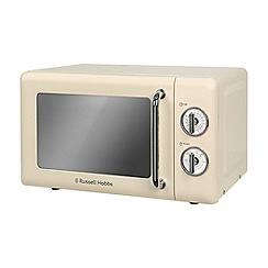 Russell Hobbs - Cream retro 17l manual microwave RHRETMD706C
