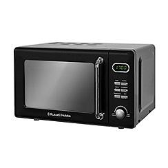 Russell Hobbs - Black retro 17l digital microwave RHRETMD706B