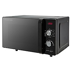 Russell Hobbs - Black flatbed manual digital solo microwave oven RHFM2001B