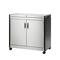 Hostess - Brushed metal 'Connoisseur' hostess trolley HL6232BS