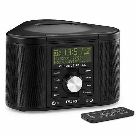 Pure - Black chronos iPod dock & radio
