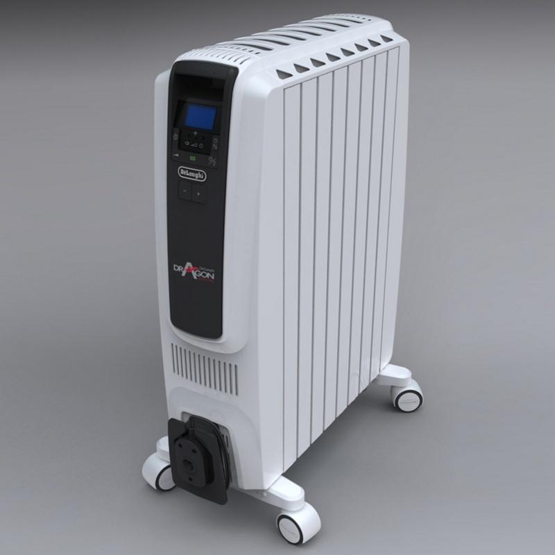DeLonghi Dragon TRD40820E 2KW oil filled radiator, White
