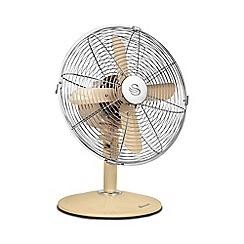 Swan - Cream 12' desk fan SFA1010CN