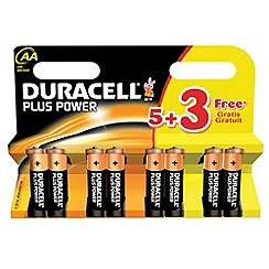 Duracell - Pack of eight Plus Power AA batteries
