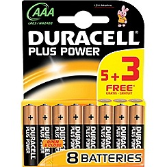 Duracell - Pack of eight Plus Power AAA batteries