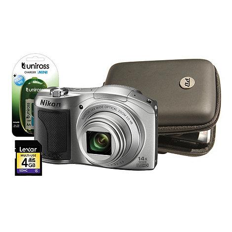 Nikon - Silver L610 16MP, 14x optical zoom digital bridge camera kit