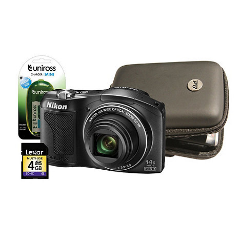 Nikon - Black L610 16MP 14x optical zoom digital bridge camera kit