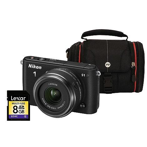 Nikon - 1 S1 Black Compact Camera