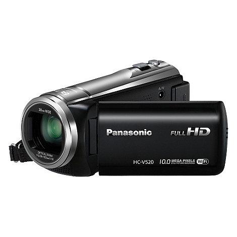 Panasonic - Black HC-V520 full HD 50x optical zoom camcorder