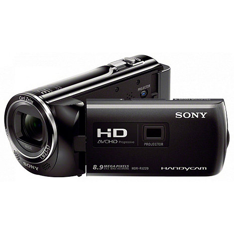 Sony - HDR-PJ220 27x optical zoom Full HD projector camcorder