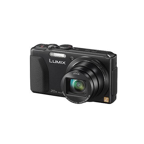 Panasonic - Black Lumix DMC-TZ40 18MP 20x optical zoom compact digital camera