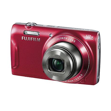 Fuji Film - Fuji Finepix red +T500+ digital camera with 16 megapixels and 12 x optical zoom