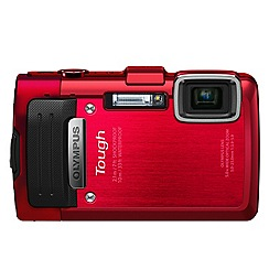 Olympus - Optical Zoom 'TG-830 red' 16MP 5x digital compact camera