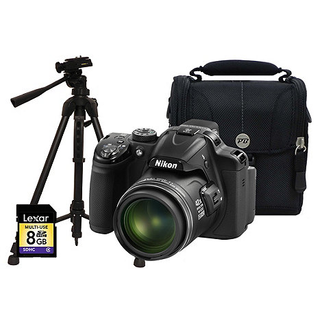 Nikon - Zoom digital +P520 black+ 18.1MP 42x bridge camera kit
