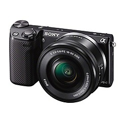 Sony - Black 'NEX-5RL' 16.1MP 16-50mm lens compact camera