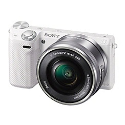 Sony - White 'NEX-5RL' 16.1MP 16-50mm lens compact camera