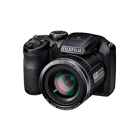 Fuji Film - Fuji FinePix black S4800 digital camera with 16 megapixels and 30 x optical zoom