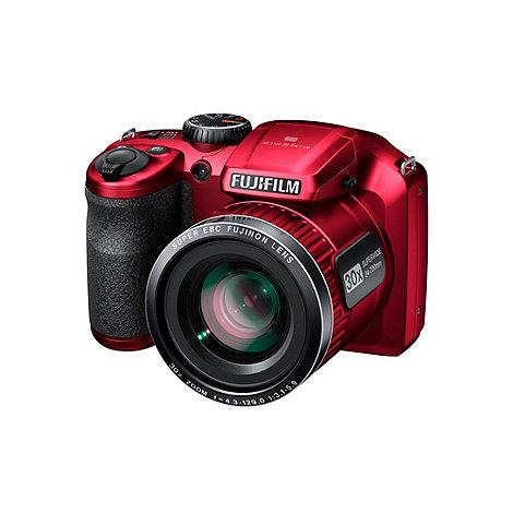 Fuji Film - Fuji FinePix red S4800 digital camera with 16 megapixels and 30 x optical zoom